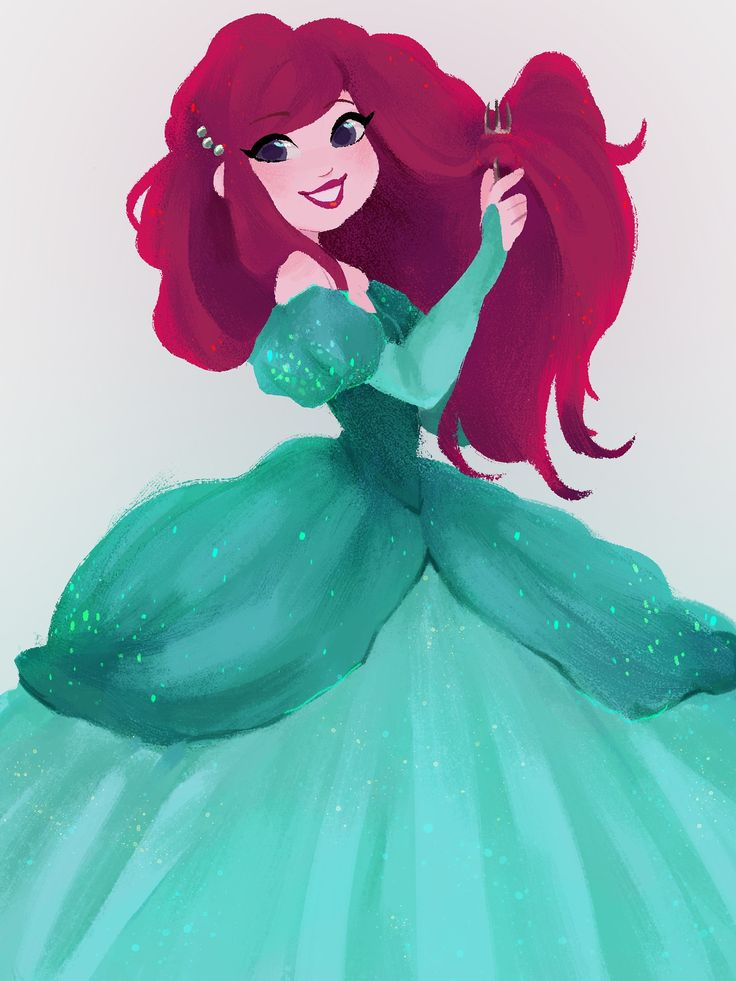 I'm in love with this drawing of Ariel from the little mermaid, it's just too cute!