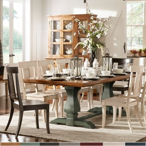 Eleanor Oak Finish 86 104 Inch Dining Table With Leaf By Inspire Q