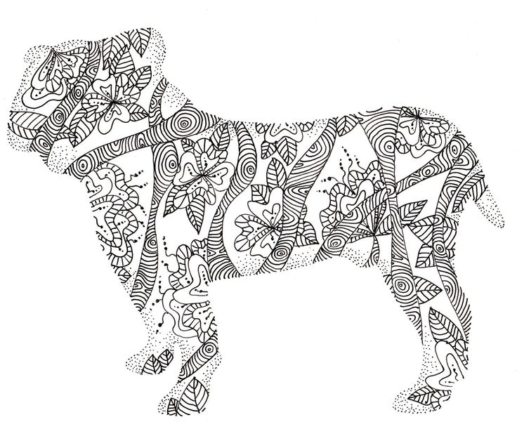 school bulldog coloring pages - photo#31