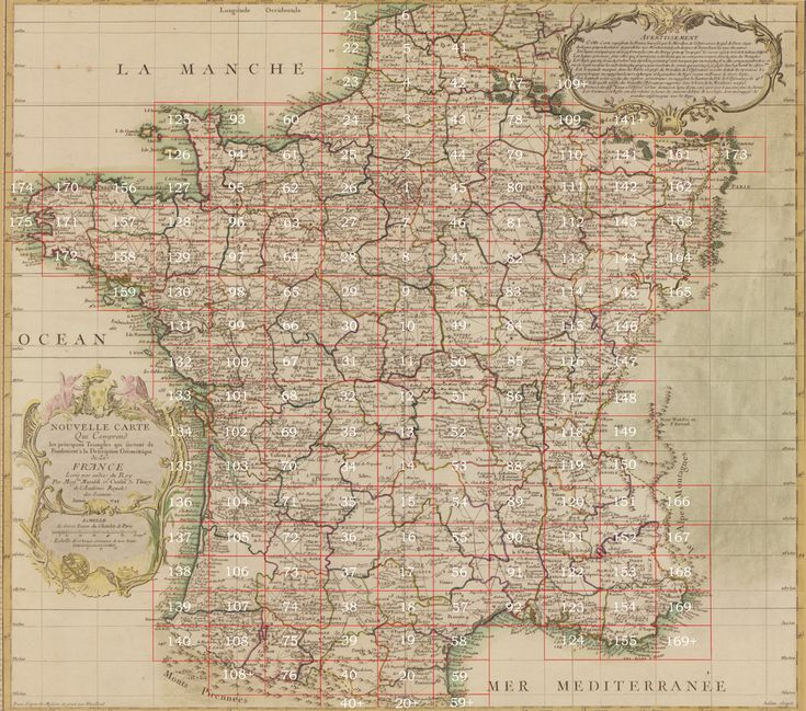 Carte de France. Cassini, César-François, 1714-1784. / | Library of Congress
