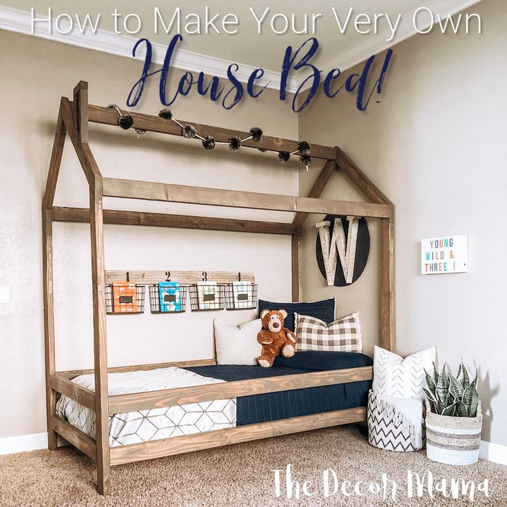 Diy Twin Size House Bed With Images House Beds For Kids