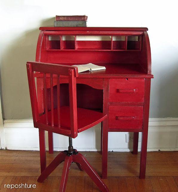 Reposhture Studio: Child's Roll Top Desk - 49 Best Children's Desks Images On Pinterest Antique Furniture