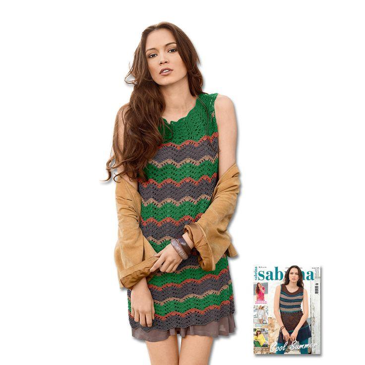 Modell 439/5, Tunika aus Cotton-Superfine II von Junghans-Wolle « Damenmodelle « Häkelmodelle « Stricken & Häkeln - Häkelmodelle für Damen im Junghans-Wolle Creativ-Shop im Junghans-Wolle Creativ-Shop kaufen