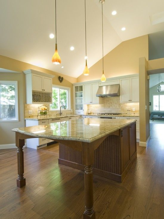 25 best ideas about island table on pinterest - Savvy small apartment kitchen design layout for perfect kitchen with great efficiency ...