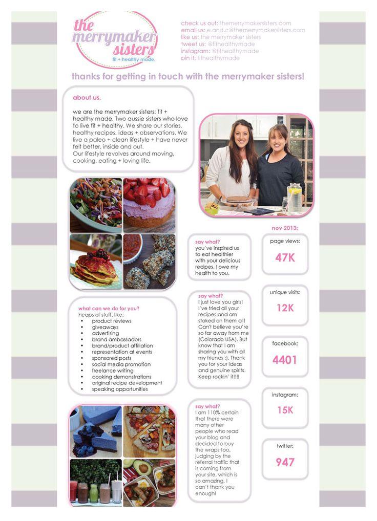 Example Media Kit Merrymaker Sisters