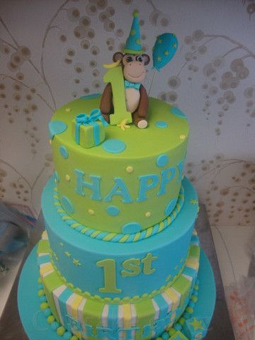 For our little monkey 1st birthday cake