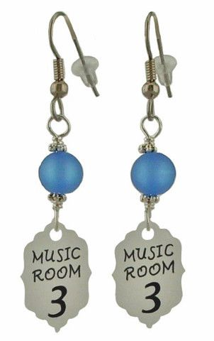 Ouran High Schools Host Club Inspired Earrings by Unique Creations. www.uniquecreationsbyamy.com