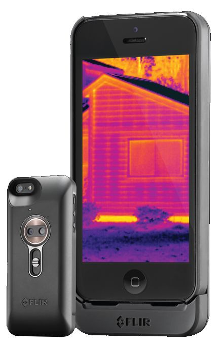 FLIR ONE™ personal thermal imager by FLIR® for iPhone 5 & 5s ~Translates thermal energy into dynamic color images. Use for security, home repairs, outdoor activities, and more.