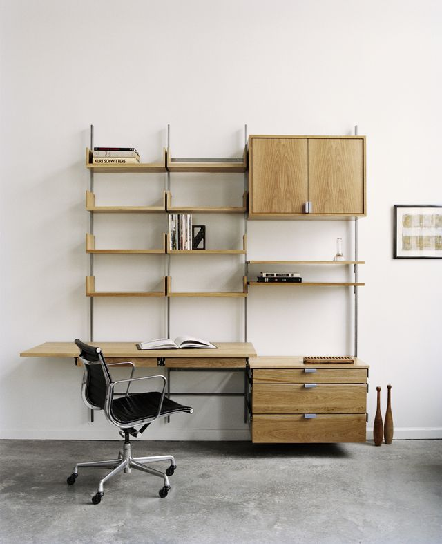 Home Office With Desk, Pencil Drawers, Cabinet, Decks, Storage D