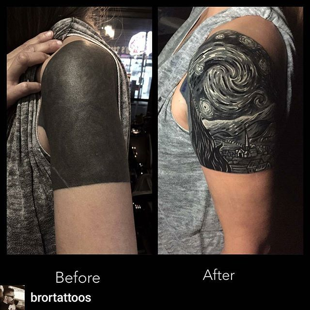 The 25 best black tattoo cover up ideas on pinterest for Solid black tattoo cover up