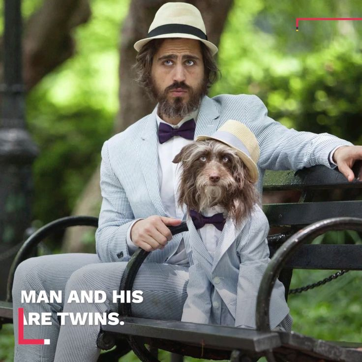 This man and his dog are more than just best friends — they're twins.