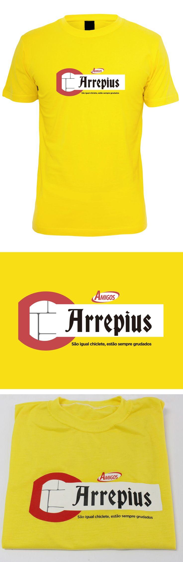 Camiseta criada pela Agência Conceito para o cliente Arrepius.