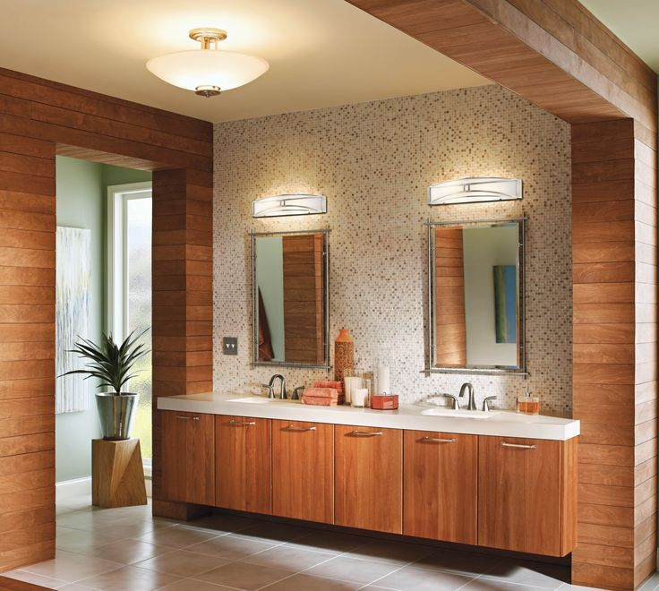 Add Some Over Head Light Features To Your Bathroom It Is A Great Idea And