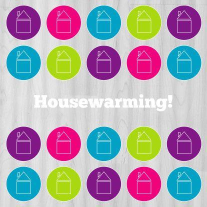 Uitnodiging housewarming iconen - Uitnodigingen - Kaartje2go