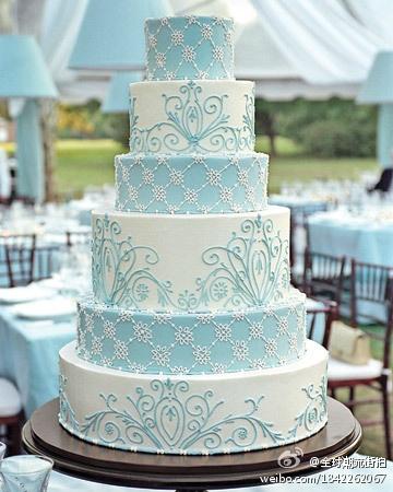 Wedding Cake blue