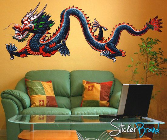 printed vinyl wall decal sticker chinese dragon mmartin147s | my