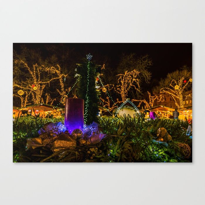 """Fine art print on bright white, fine poly-cotton blend, matte canvas using latest generation Epson archival inks. Individually trimmed and hand stretched museum wrap over 1-1/2"""" deep wood stretcher bars. Includes wall hanging hardware."""