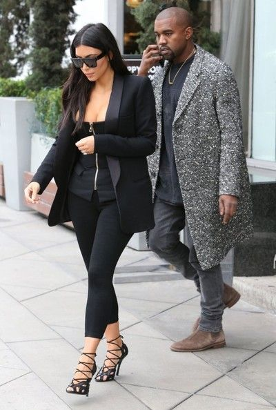 Kim & Kanye Leaving Milk Studios In West Hollywood