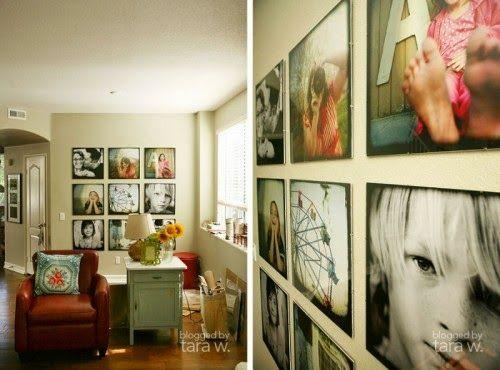 25 εκπληκτικές ιδέες για να κρεμάσετε τις οικογενειακές φωτογραφίες στους τοίχους! | Φτιάξτο μόνος σου - Κατασκευές DIY - Do it yourself