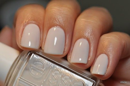 """I should buy stock in Essie. Everyone seems to ADORE it! """"Essie - Marshmallow is the perfect winter white"""""""