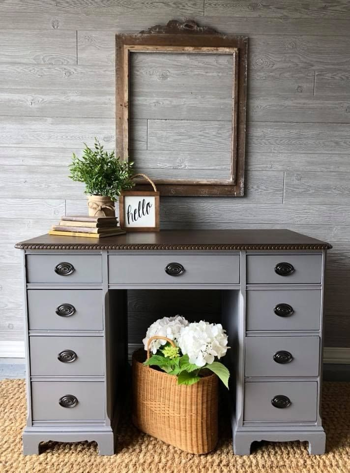 custom gray desk grey desk repainting furniture on desk color ideas id=56304