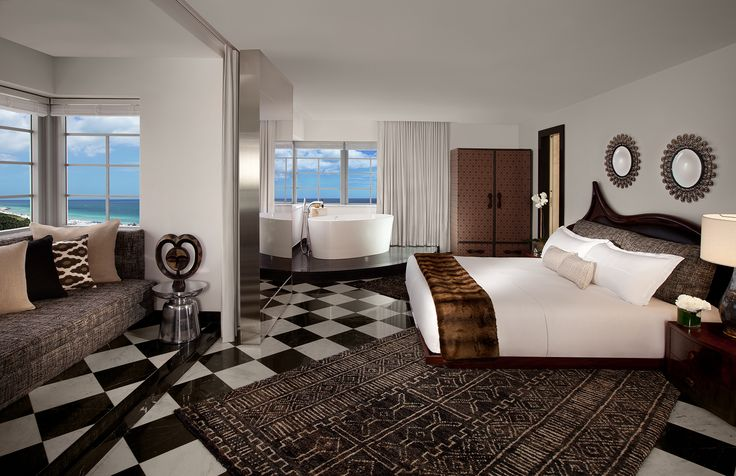 Designed by Lenny Kravitz the penthouse at SLS South Beach is a must see in Miami
