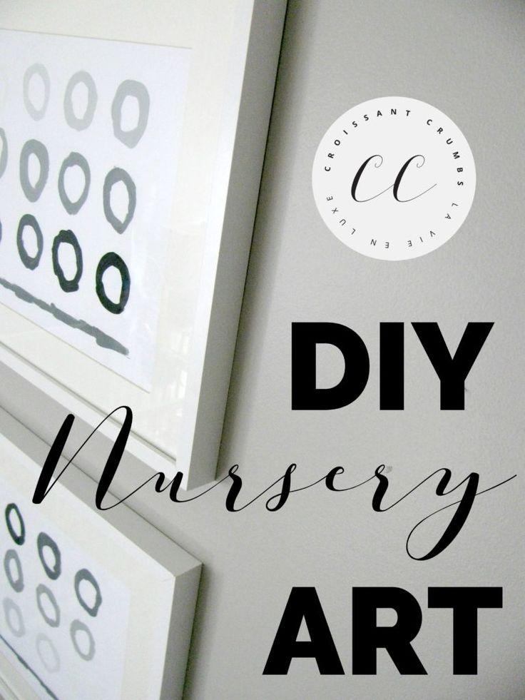 How to Makr your own DIY Nursery Art
