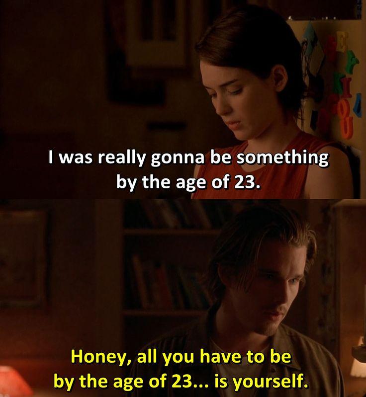 - Reality Bites 1994  Ethan Hawke Winona Ryder Ben Stiller