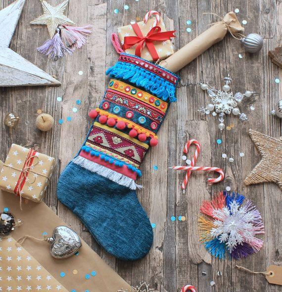 Tutti Frutti embellished Christmas Stocking - Small