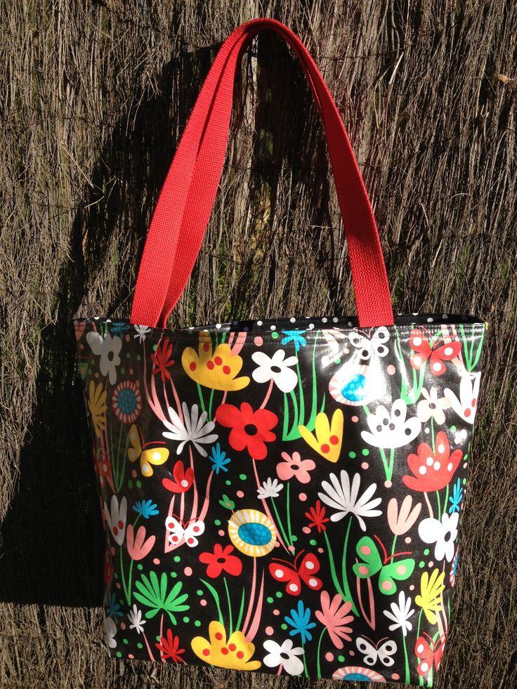 Laminated cotton swim/beach bag $50