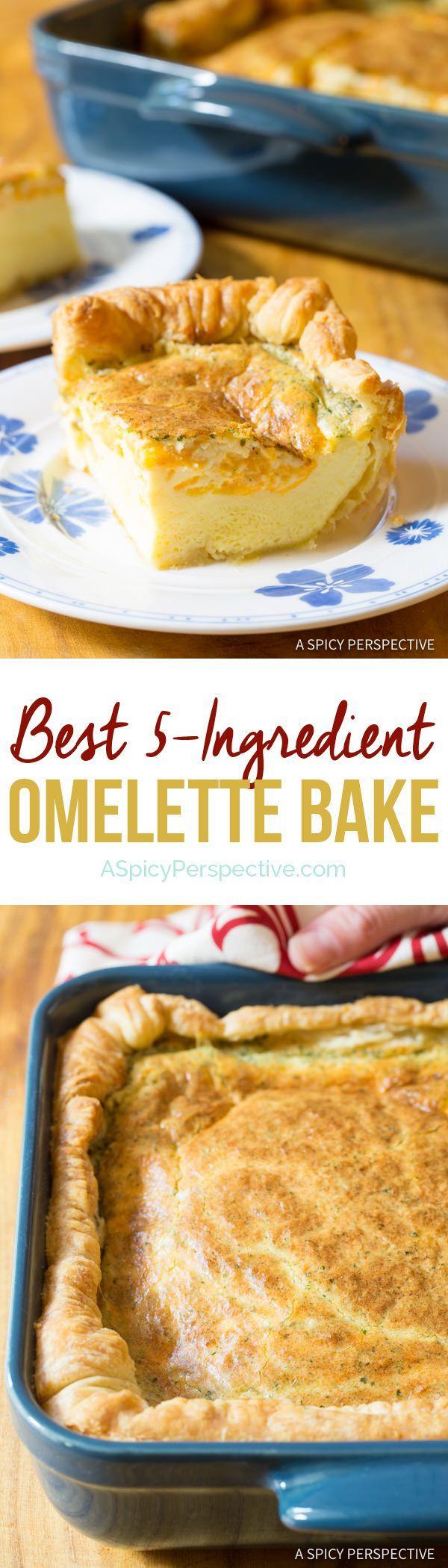 Fluffy 5-Ingredient Omelette Bake #holiday #christmas #easter #FreshHolidayTips #Hidden Valley @Glad @Walmart