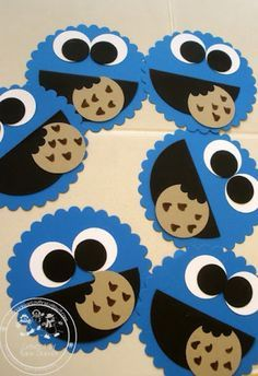 Cookie monster!! I just don't know where I would put the names on these...