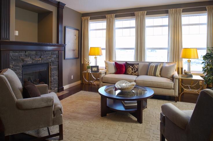 Living Room   WestView Builders   Montrose Calgary   Showhome
