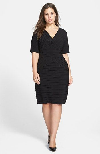 CLASSIC!  Adrianna Papell Shutter Pleat Sheath Dress (Plus Size) | Nordstrom