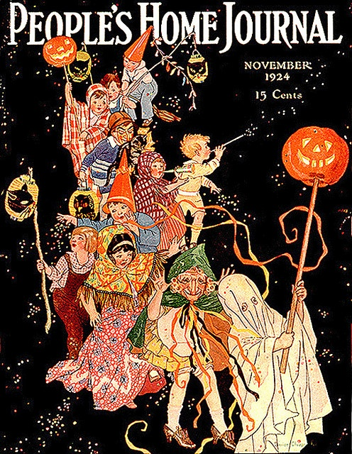 peoples home journal halloween parade vintage halloween magazine cover 1924 - Halloween Magazines