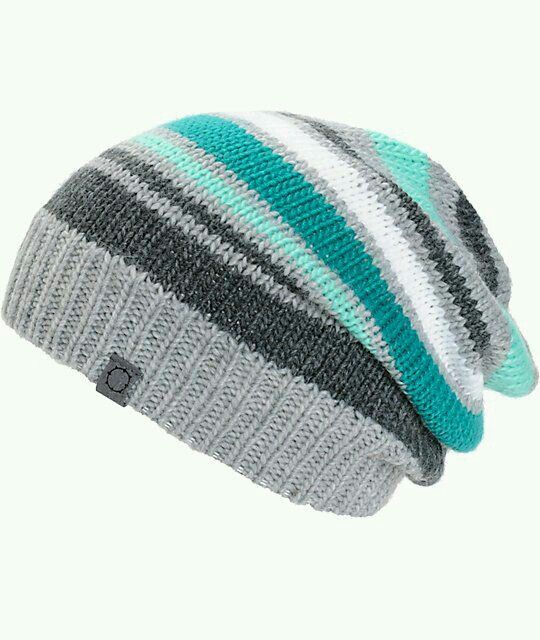 Empyre Margo Stripe Beanie (Zumiez) - All I need is one sample hat to serve  as a model and I can make this as a stash buster!