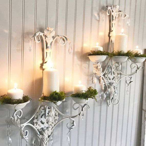 Wall Candle Holder Crystal Sconces