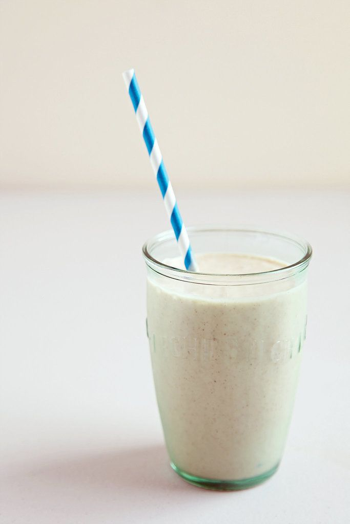 This creamy banana bread smoothie has almost 35 grams of protein!