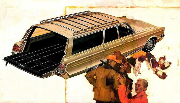 Town and Country… 1967 Chrysler brochure illustration Mopar Monday