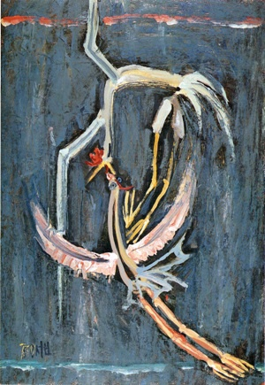 부부- 이중섭, 1953, 종이에 유채, 51.5*35.5cm