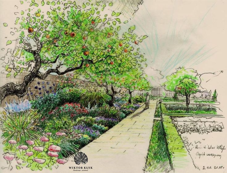 598 best garden sketch images on pinterest architecture drawings drawing architecture and for Landshaft design