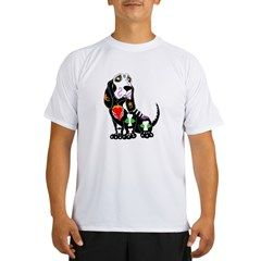 b5c2aae33 Basset Hound Sugar Skull Performance Dry T-Shirt #sugarskullzoo  #sugarskullanimal #bassethound #