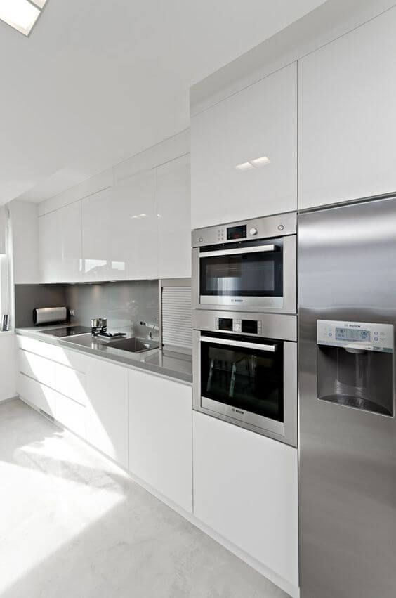 21 Kullanışlı Beyaz Mutfak Modelleri