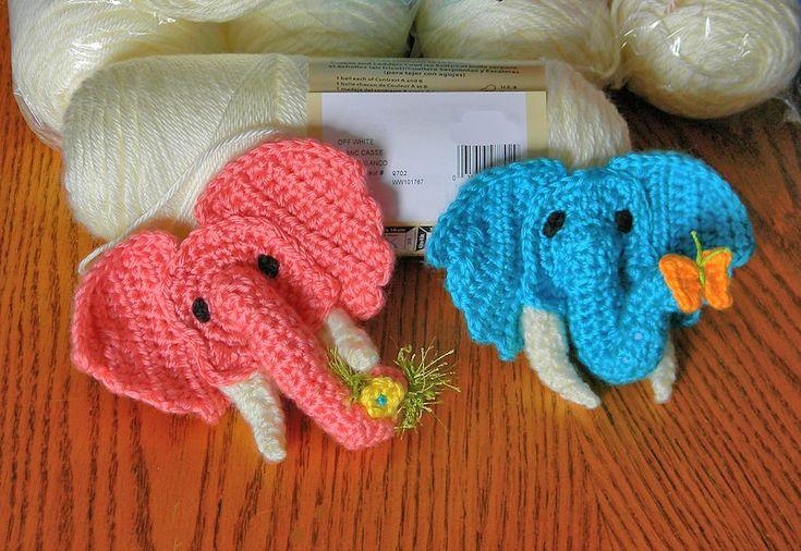Aran Elephant Applique Motif By Tamara Adams - Free Crochet Pattern - (ravelry)