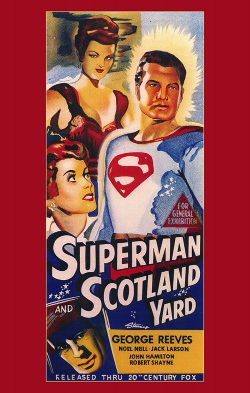 """Superman and Scotland Yard (1954) was one of several """"quickie"""" Superman film released, consisting of several episodes of the popular Superman TV show starring George Reeves."""