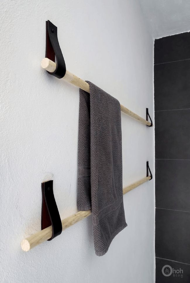 DIY   Des portes-serviettes design avec une vieille ceinture   www.decocrush.fr - @decocrush