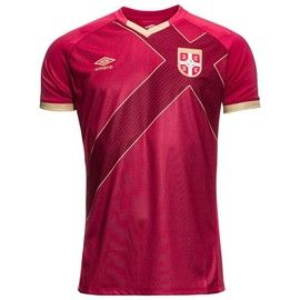 This is the Serbia Men's Home Jersey 2014 - 2015 which will be worn for all of the Serbia National team's soccer and football matches at alll home matches.