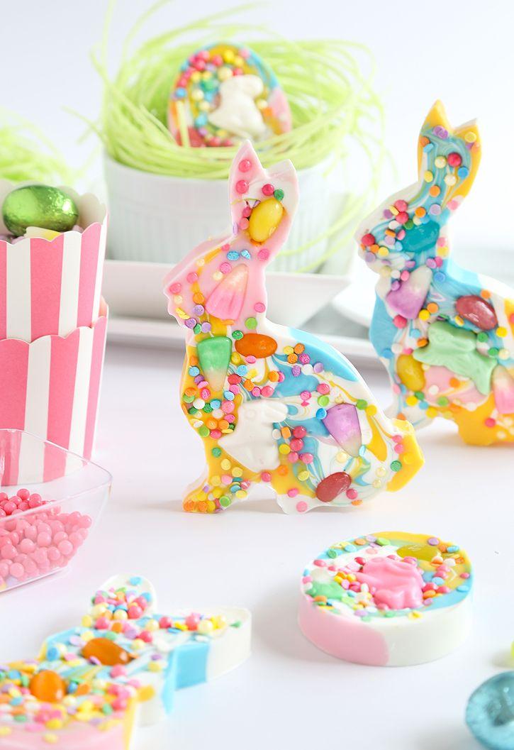 Candy Speckled Easter Bunny Bark for the Etsy Blog! | Sprinkle Bakes