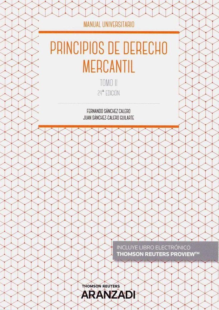 Principios de derecho mercantil Sánchez Calero, Fernando