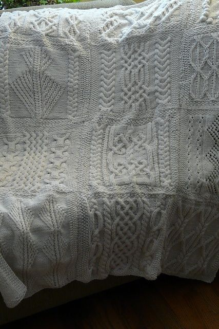 SA-02-Sampler aran afghan cable knitting (different patterns than the other samplers)
